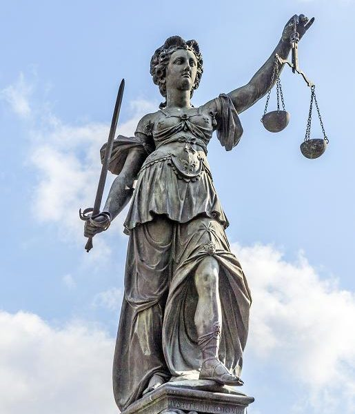 Lady Justice in Frankfurt, speak the truth in love, sword of the Spirit, Supreme Court and religious freedom, liberty and justice, freedom of speech