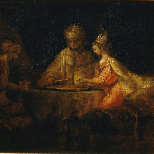 haman, Esther, and King Ahasuerus