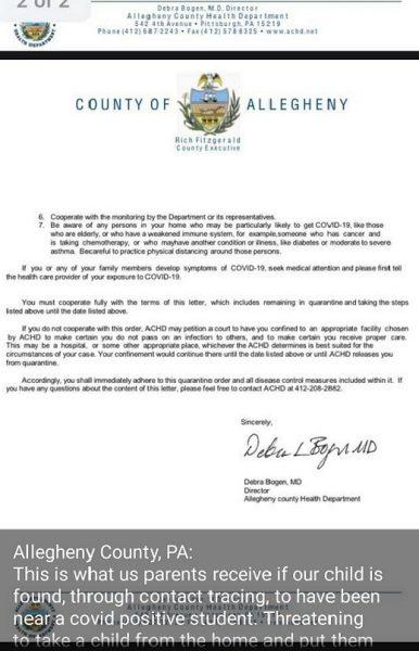 Allegheny school children state threat